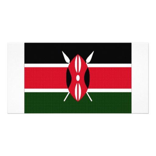 Kenya National Flag Photo Card