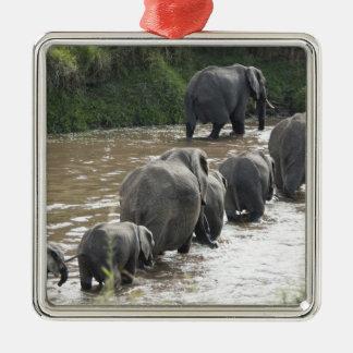 Kenya, No Water No Life Mara River Expedition, 2 Metal Ornament
