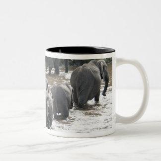 Kenya, No Water No Life Mara River Expedition, 2 Two-Tone Coffee Mug