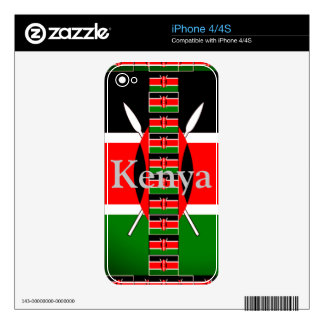 Kenya on Lovely Black Red Green Background Skins For iPhone 4