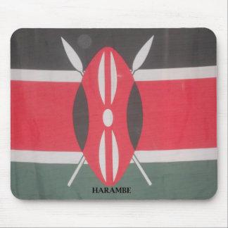 Kenya Patriotic national colors Customize Product Mouse Pad