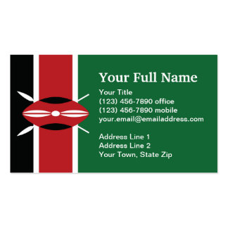 Kenya Plain Flag Business Card