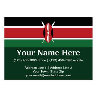 Kenya Plain Flag Large Business Card