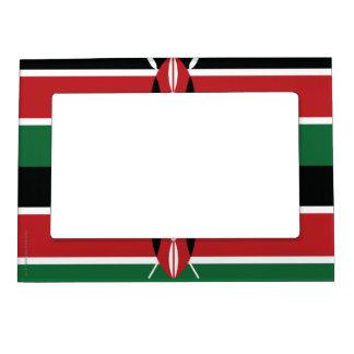 Kenya Plain Flag Magnetic Frame
