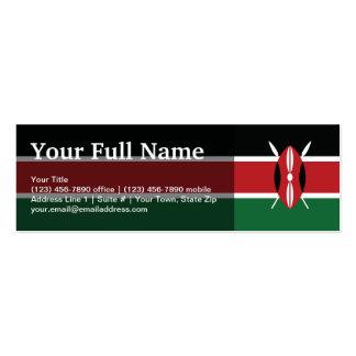 Kenya Plain Flag Mini Business Card