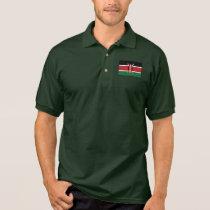 Kenya Plain Flag Polo Shirt