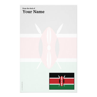 Kenya Plain Flag Stationery