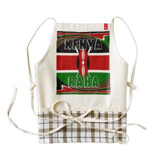 Kenya Raha Beutiful Kenya Flag Zazzle HEART Apron