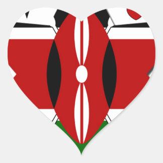 Kenya Safari Heart Sticker