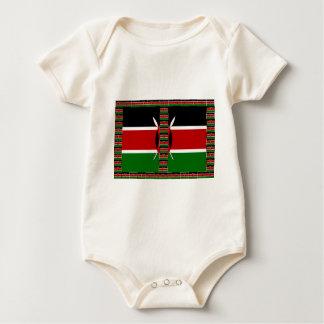 Kenya Seamless Flags border frames Bodysuit