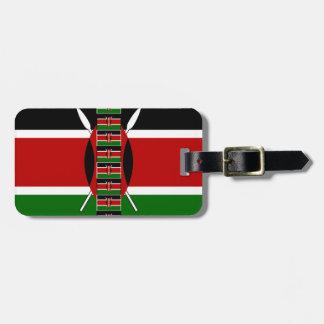 Kenya Seamless Flags border frames Travel Bag Tag