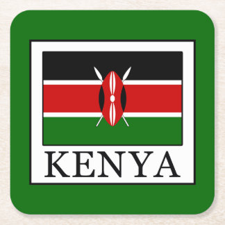Kenya Square Paper Coaster