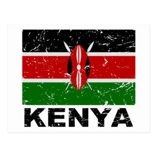 Kenya Vintage Flag Postcard
