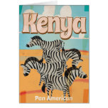 Kenya Vintage Travel Poster Card