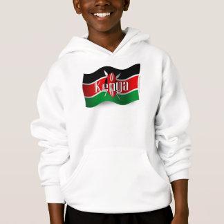 Kenya Waving Flag Hoodie