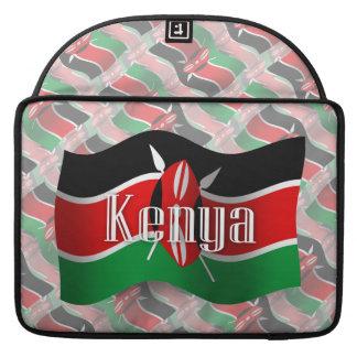 Kenya Waving Flag Sleeves For MacBook Pro