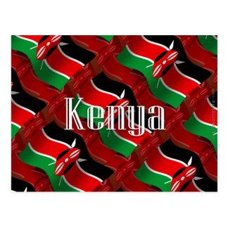 Kenya Waving Flag Postcard