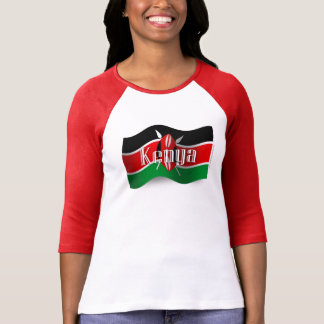Kenya Waving Flag T-Shirt