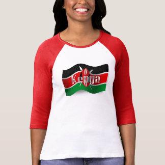 Kenya Waving Flag Tshirt