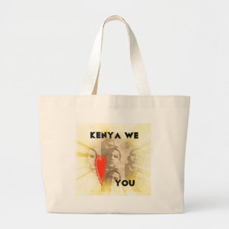Kenya We Love You Large Tote Bag