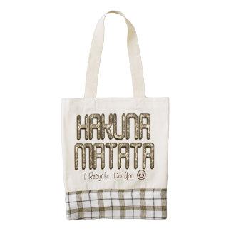 Kenya Women Hakuna Matata Recycle Lovely Design Zazzle HEART Tote Bag