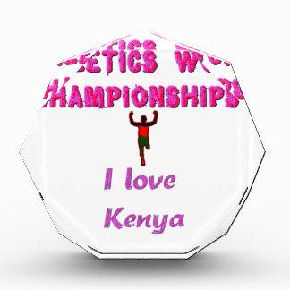 Kenya World's Athletic Champions.png Acrylic Award