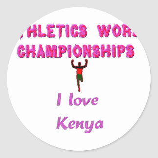 Kenya World's Athletic Champions.png Classic Round Sticker