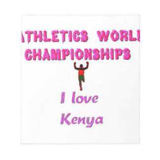 Kenya World's Athletic Champions.png Memo Note Pads