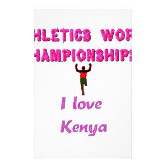 Kenya World's Athletic Champions Stationery
