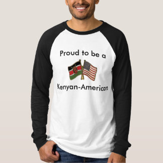Kenyan-American Canvas Long Sleeve Raglan T-Shirt