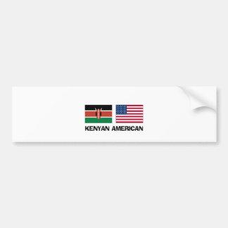 Kenyan American Car Bumper Sticker