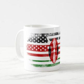 Kenyan American Flag   Kenya and USA Design Coffee Mug