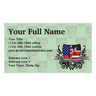 Kenyan-American Shield Flag Business Card Template