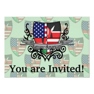 Kenyan-American Shield Flag Card