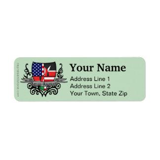 Kenyan-American Shield Flag Label