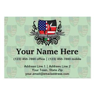 Kenyan-American Shield Flag Large Business Card