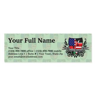 Kenyan-American Shield Flag Mini Business Card