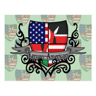 Kenyan-American Shield Flag Postcard