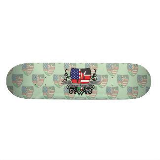 Kenyan-American Shield Flag Skateboard
