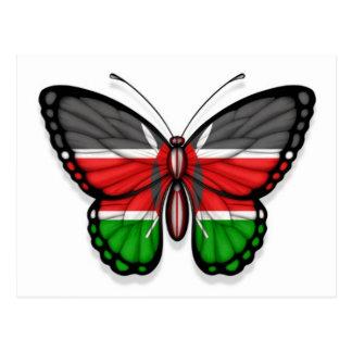 Kenyan Butterfly Flag Postcard