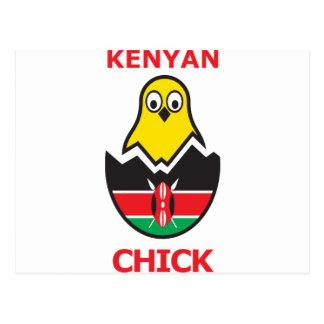 Kenyan Chick Postcard