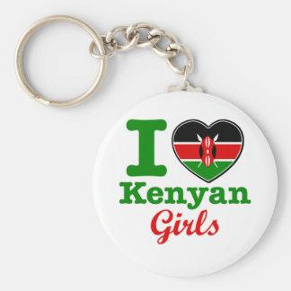 Kenyan design basic round button keychain