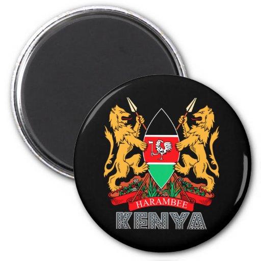 Kenyan Emblem 2 Inch Round Magnet