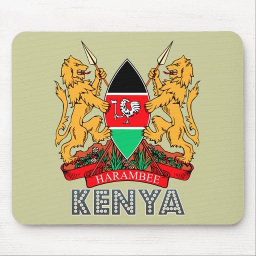 Kenyan Emblem Mouse Pad