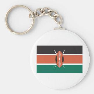 Kenyan Flag Basic Round Button Keychain