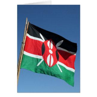 kenyan flag card