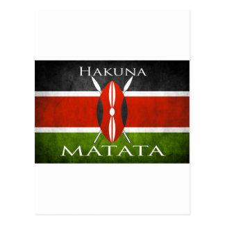 Kenyan Flag- Hakuna Matata Postcard