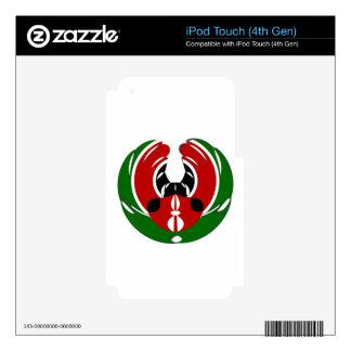 Kenyan Flag iPod Touch 4G Decal