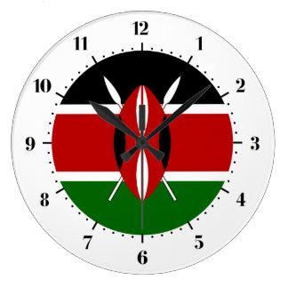 Kenyan flag large clock