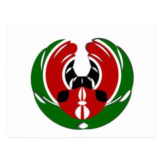 Kenyan Flag Postcard